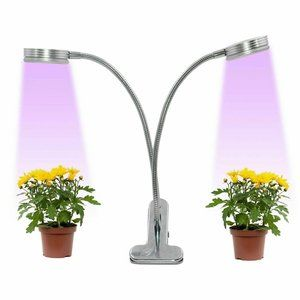 LED GROW LIGHT - DUAL HEAD - Desktop Table Plant